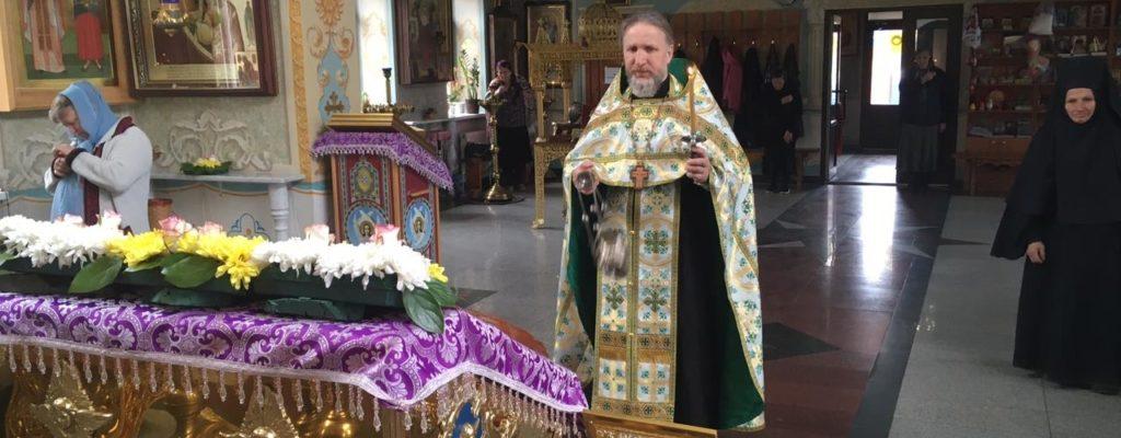 В Неделю 5-ю Великого поста архиерейское богослужение совершено  в нашем храме