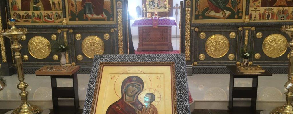 В Свято-Тихвинском Скиту совершили богослужения Субботы Акафиста